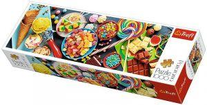 Puzzle TREFL  1000 dílků - panorama - sladké pochutiny  29046