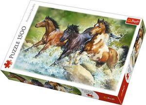Puzzle Trefl 1500 dílků -  Tři divocí koně  26148