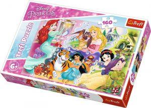 Puzzle Trefl 160 dílků - Princezny a jejich miláčci  15364