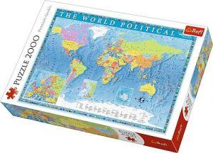 Puzzle Trefl 2000 dílků - Politická mapa světa   27099