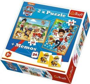Puzzle Trefl  30 + 48 dílků + hra Memos ( pexeso ) Paw Patrol   90790