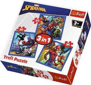 Puzzle Trefl 3v1 - 20 , 36 a 50  dílků - Spiderman - pavoučí síla   - 34841