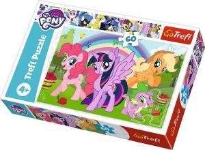 Puzzle   Trefl 60 dílků - My Little Pony - duhové přátelství   17323
