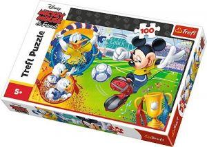 Trefl Puzzle 100 dílků - Mickey Mouse na hřišti   16353