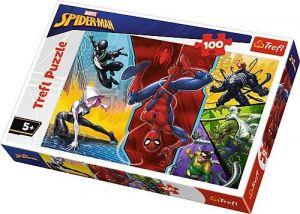 Trefl Puzzle 100 dílků - Spiderman - vzhůru nohama   16347