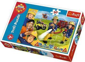 Trefl puzzle  30 dílků  - Požárník Sam  18244