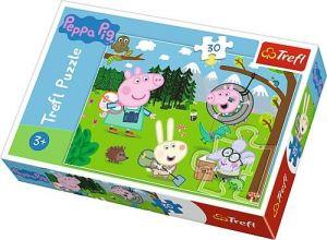 Trefl puzzle  30 dílků  - Prasátko Peppa - lesní výprava  18245