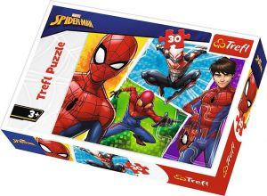 Trefl puzzle  30 dílků  - Spiderman & Miquel   18242