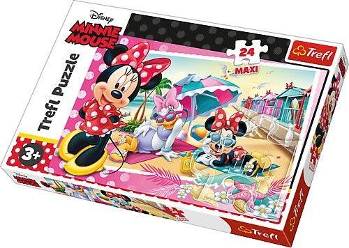 Trefl Puzzle Maxi 24 dílků - Minnie Mouse - dovolená s Minnie 14292