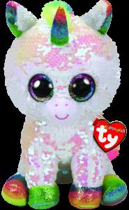 TY Beanie Boos Flippables - Pixy - bílý jednorožec   36669-  15 cm plyšák