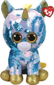 TY Beanie Boos   Flippables  - Pixy - modro bílý jednorožec  36761  - 42 cm