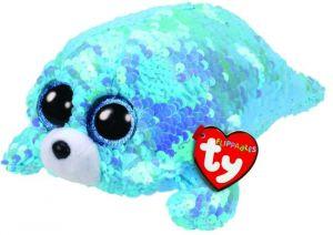 TY Beanie Boos Flippables - Waves  - modrý tuleň  36676 -  15 cm plyšák