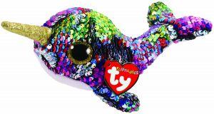 TY Beanie Boos Flippables - Calypso  - duhový narval  36675 -  15 cm plyšák