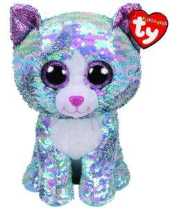 TY Beanie Boos   Flippables  - Whimsy  - modrá kočka   36761  - 42 cm