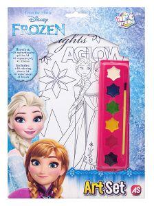 ArtSet - sada 10 obrázků A4 , 6 vodových barviček a štětec - Frozen