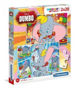 Puzzle Clementoni  2x20 dílků  - Dumbo   2v1   24756