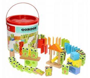 Dřevěné domino - padající dráha - žáby