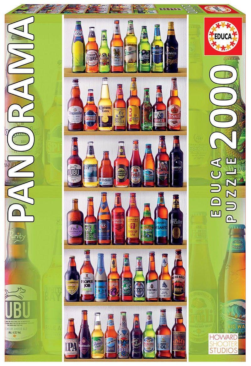 EDUCA Puzzle 2000 dílků Svět piv 18010