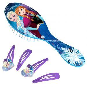 Hřeben - kartáč na vlasy + sada sponek  - Frozen B