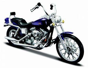 Maisto  Harley Davidson FXDWG Dyna Wide Glide 2001 1:18 purple