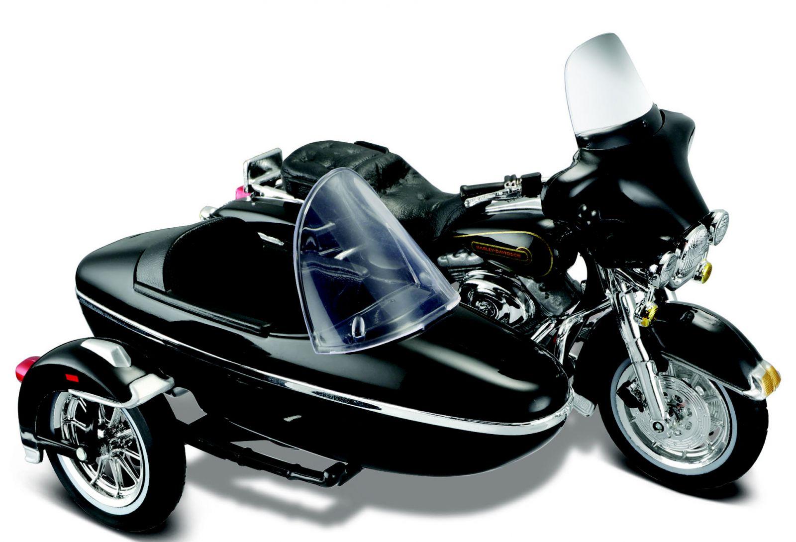 Maisto Harley Davidson Sidecar - 1998 FLHT Electra Glide Standart 1:18 černá