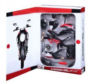 Maisto motorka 1:12 Kit - Ducati Diavel Carbon - červenočerná