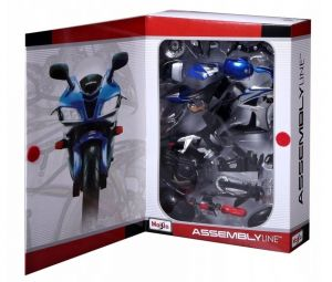 Maisto motorka 1:12 Kit - Honda CBR 600RR - modrá