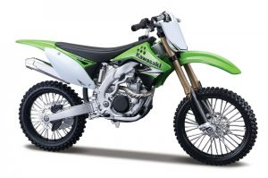 Maisto motorka 1:12 Kit - Kawasaki KX 450F - zelená