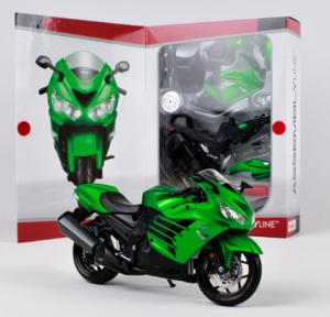 Maisto motorka 1:12 Kit - Kawasaki  Ninja ZX 14R - zelená