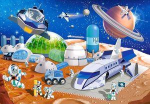 puzzle Castorland 54 dílků mini - Kosmos  - Space A