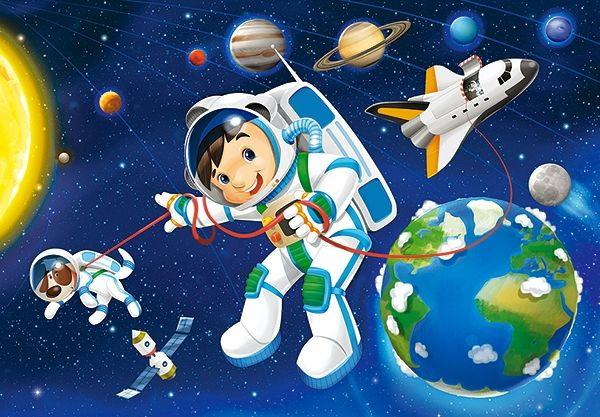 puzzle Castorland 54 dílků mini - Kosmos - Space B