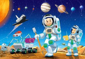 puzzle Castorland 54 dílků mini - Kosmos  - Space C