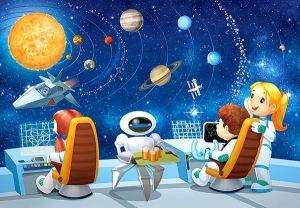 puzzle Castorland 54 dílků mini - Kosmos  - Space D