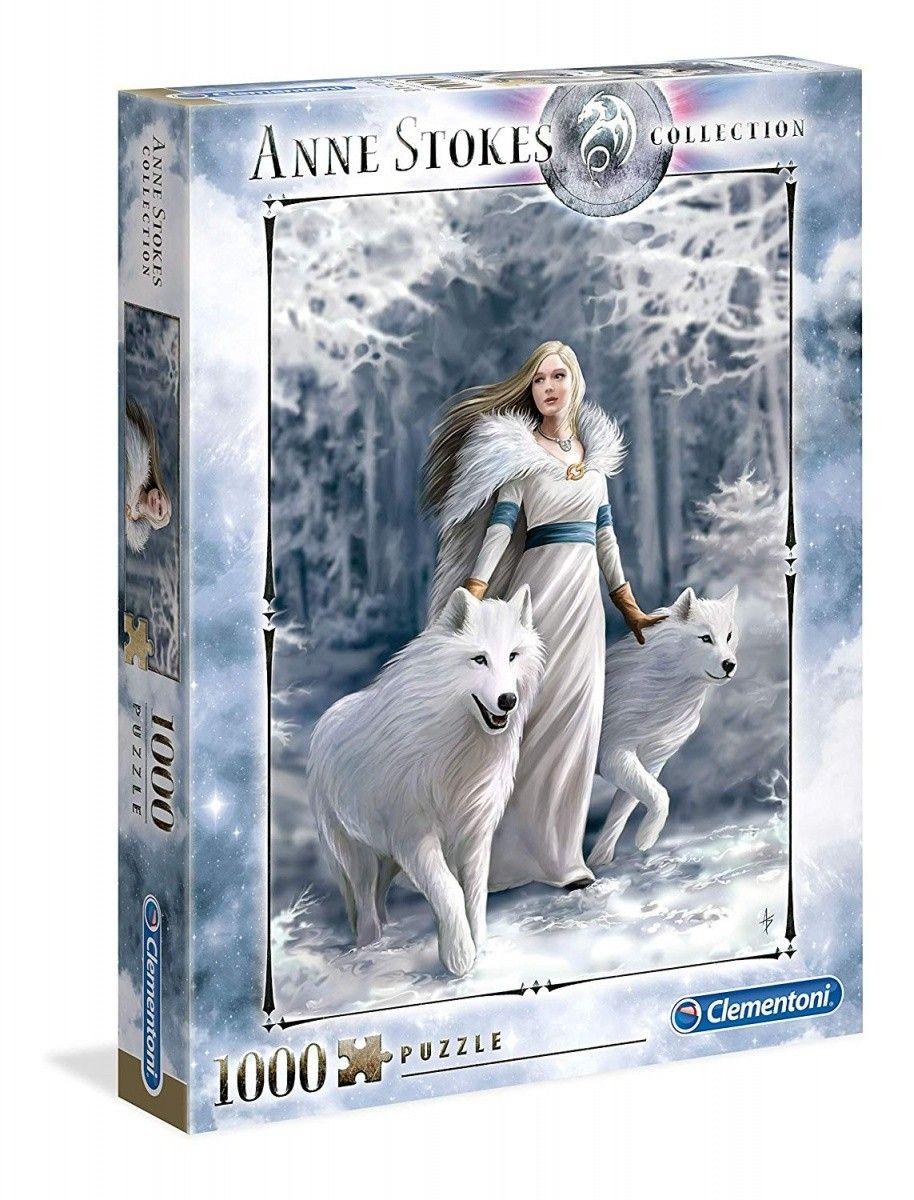 puzzle Clementoni 1000 dílků - Anne Stokes - Strážci zimy 39477