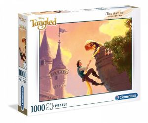 Puzzle Clementoni 1000 dílků - Art of Disney - Na vlásku  39490