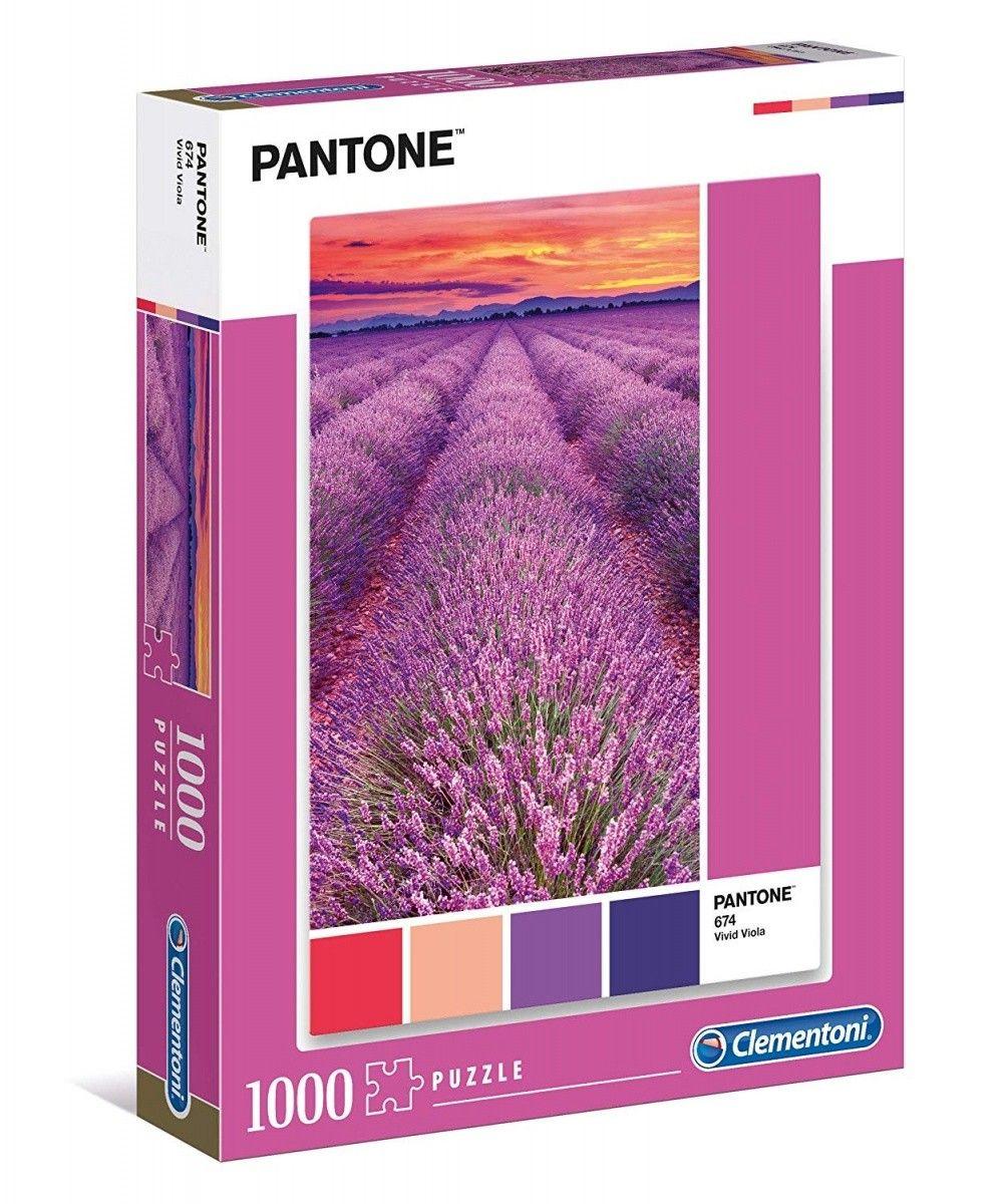 Puzzle Clementoni 1000 dílků - Pantone - Levandulové pole 39493
