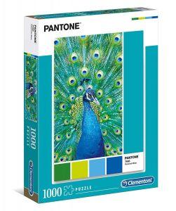 Puzzle Clementoni 1000 dílků - Pantone - Modrý páv  39495