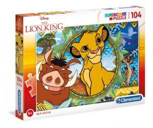 Puzzle Clementoni  - 104 dílků  -  Lví král   27287