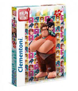 Puzzle Clementoni 104 dílků  - Raubíř Ralf a internet   27105