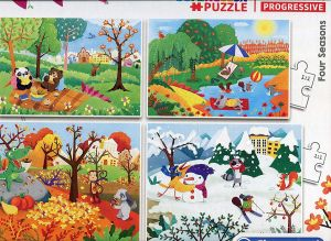 Puzzle Clementoni  - 20, 60, 100 a 180 dílků  - 4 roční období  21408
