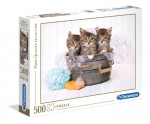 Puzzle Clementoni 500 dílků  - Koťátka    35065