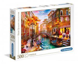 Puzzle Clementoni 500 dílků  - Západ slunce v Benátkách   35063