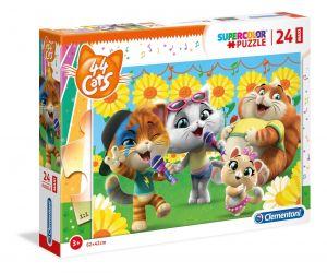 Puzzle Clementoni  MAXI  - 24 dílků  - 44 koček   28500