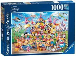 puzzle Ravensburger 1000 dílků - Disney karneval  193837