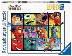 puzzle Ravensburger 1000 dílků - Disney Pixar - Splatter Art  139934