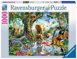 puzzle Ravensburger 1000 dílků - Dobrodružství v džungli   198375
