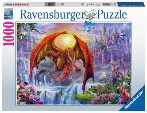 puzzle Ravensburger 1000 dílků - Dračí království  152698