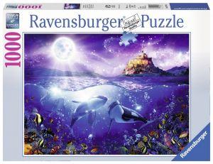 puzzle Ravensburger 1000 dílků - Kosatky ve svitu měsíce 197910