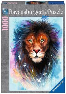 puzzle Ravensburger 1000 dílků - Majestátný lev  139811