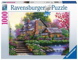 puzzle Ravensburger 1000 dílků - Romantický dům  151844